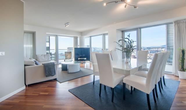 Sea and City View Terrace Apartment with private terrace – B502